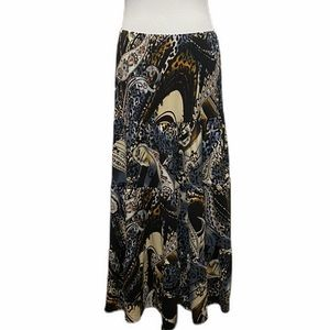 💖4/$25 Jason Maxwell Patterned MIdi Skirt M